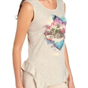 NWT JESSICA SIMPSON LINNIE GRAPHIC TANK SIZE S